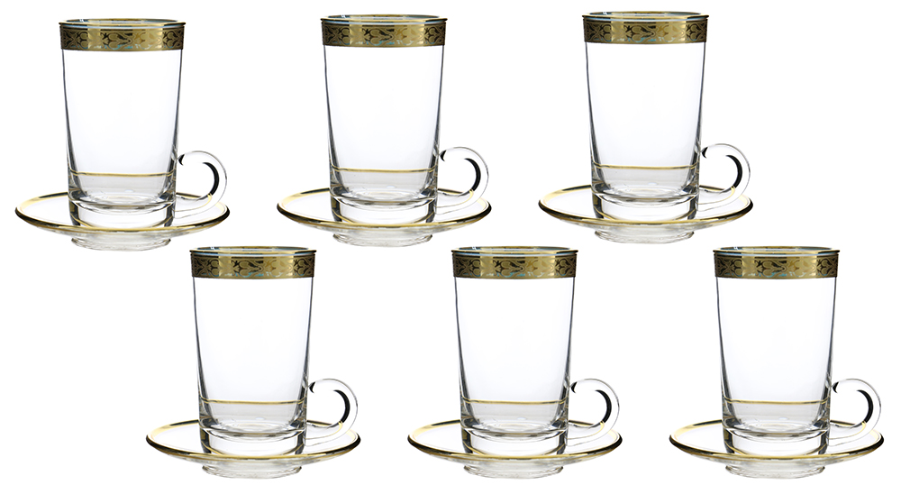 "6 PC SET OF 4"" TEA GLASSES"