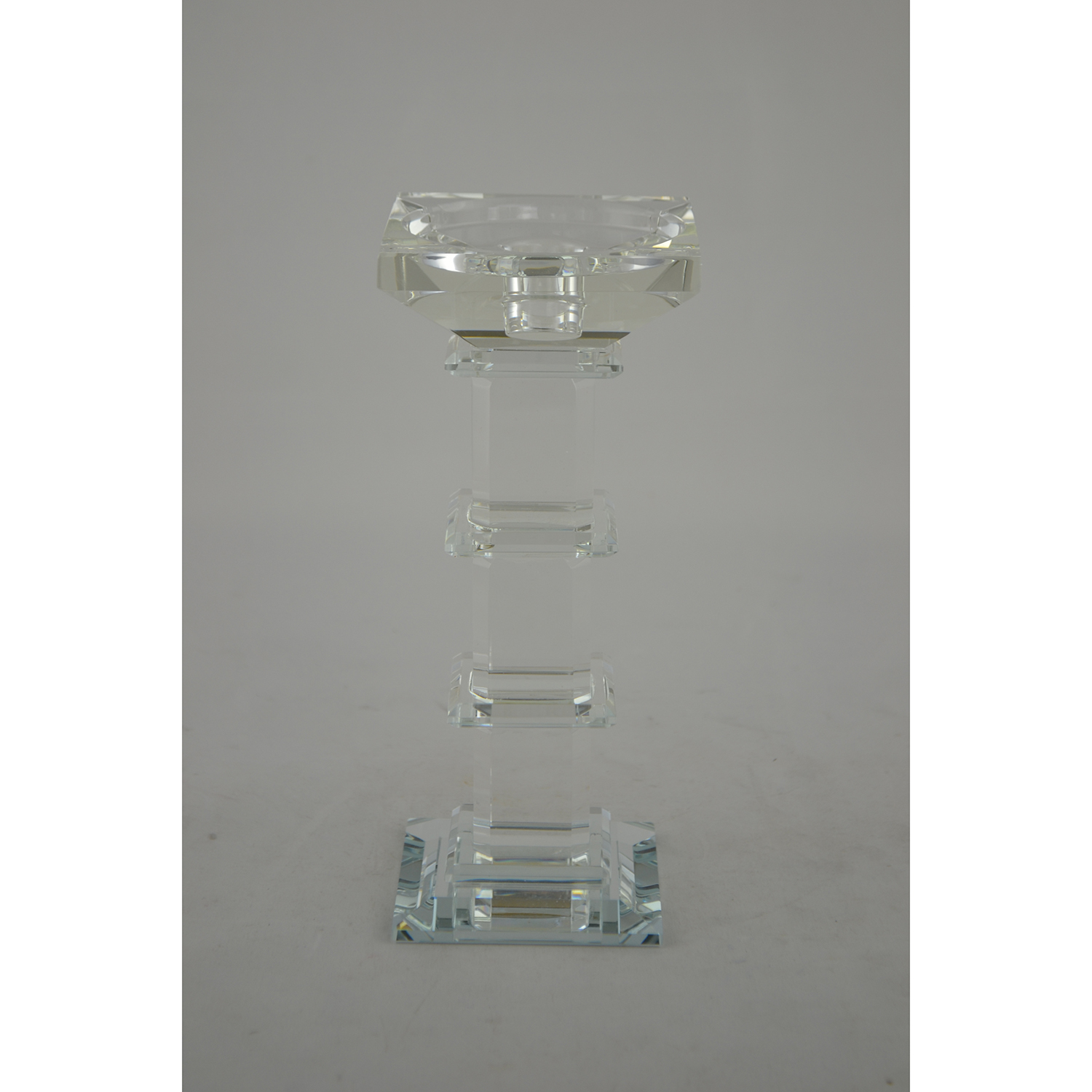 "8.5"" CRYSTAL CANDLE HOLDER"
