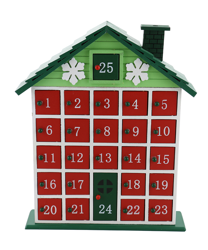 12X10 GREEN CABIN ADVENT CALENDAR