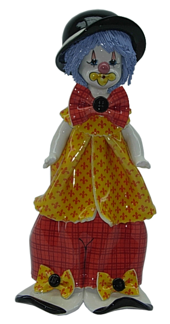 "9.5"" CLOWN W/ YELLOW SHIRT"