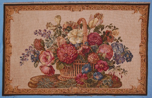 28X42 FLORAL TAPESTRY