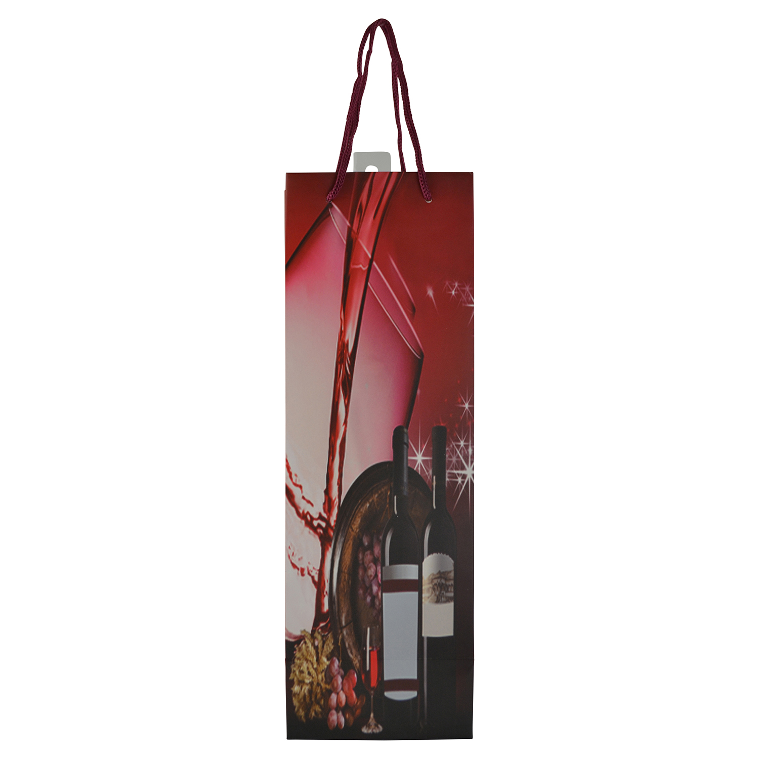 """14"""" WINE BAG, RED WINE POURING IN GLASS"""