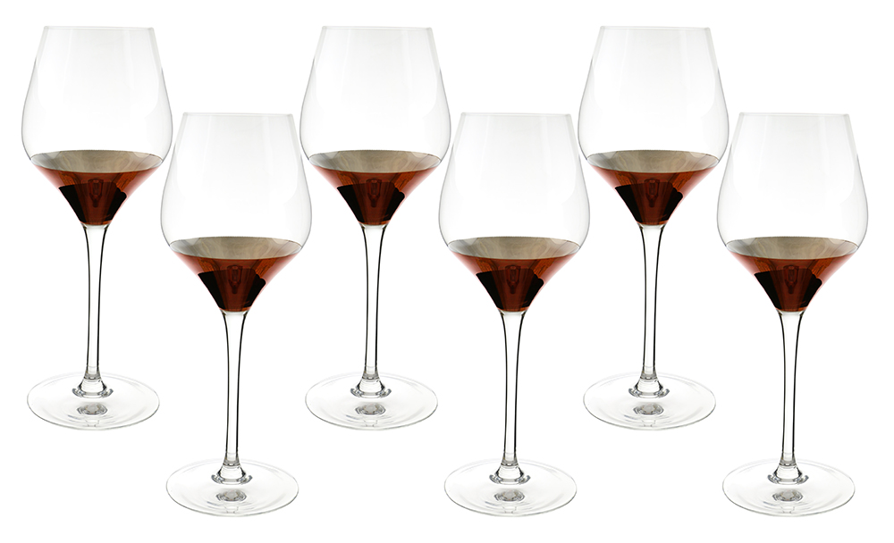 "6-PC SET OF 9.5"" WINE GLASS, COPPER FINISH"