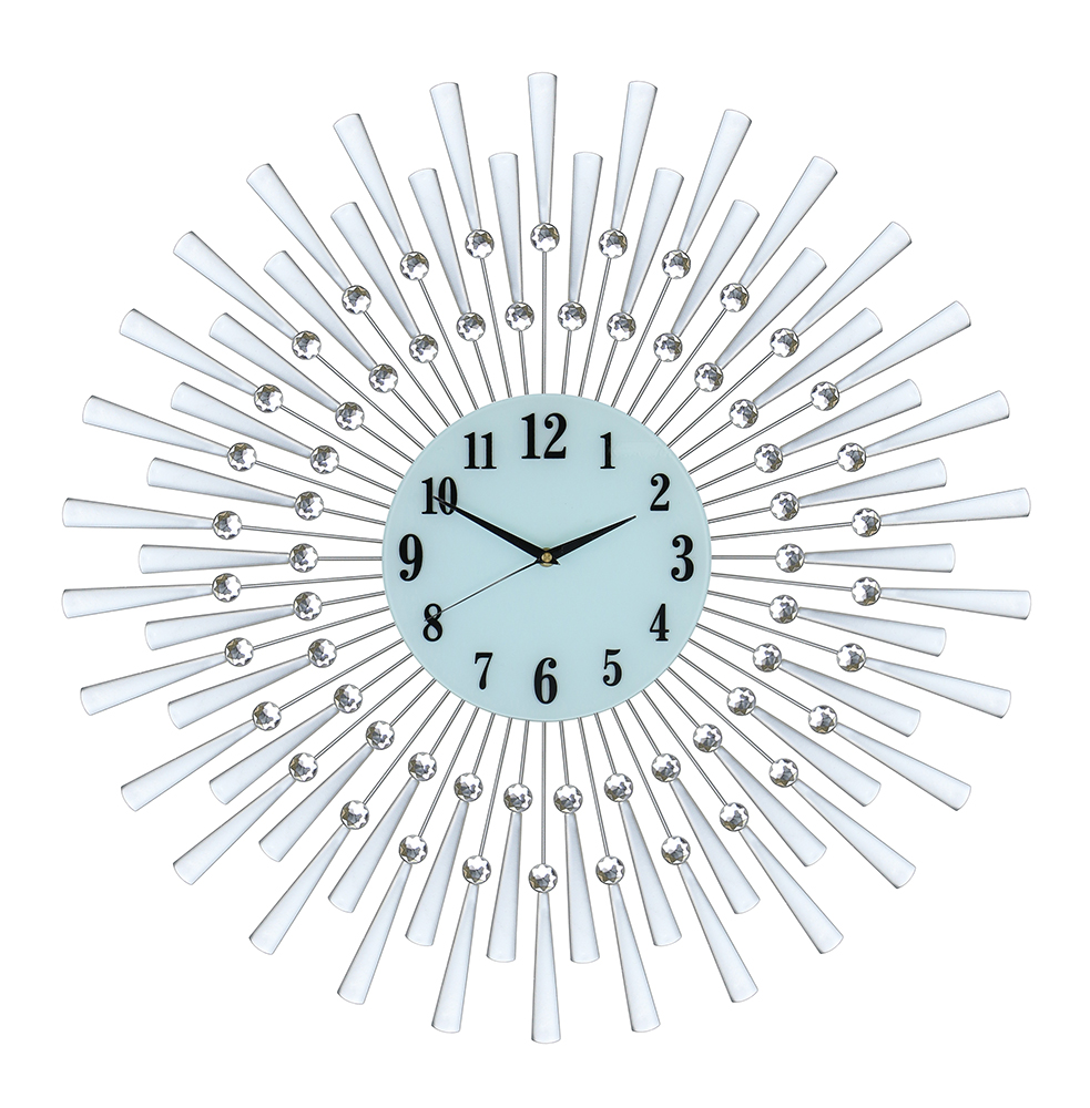 "28"" SILVER SPOKED WALL CLOCK"