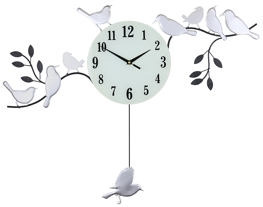 30X23 WALL CLOCK WITH BIRDS