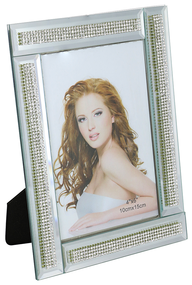 8X6 FRAME FOR 4X6 PHOTO, 4 CRYSTAL LINES