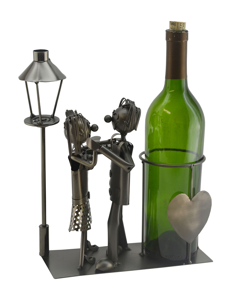 BOTTLE HOLDER, LOVERS BY LIGHT POST