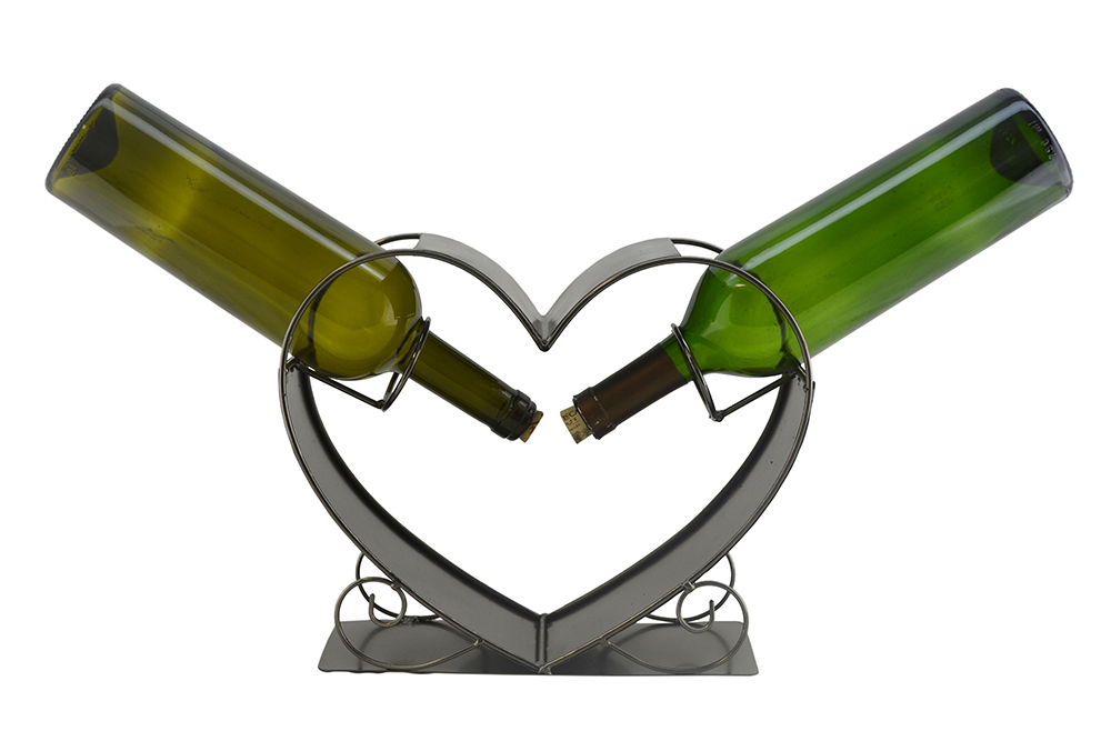 BOTTLE HOLDER, 2 BOTTLES IN A HEART