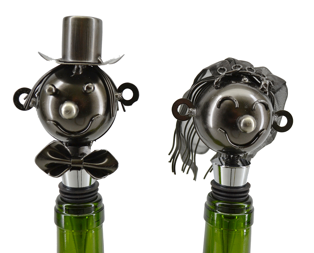 BRIDE & GROOM WINE STOPPERS