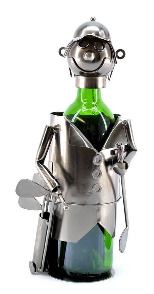 BOTTLE HOLDER, GOLFER W/ BAG