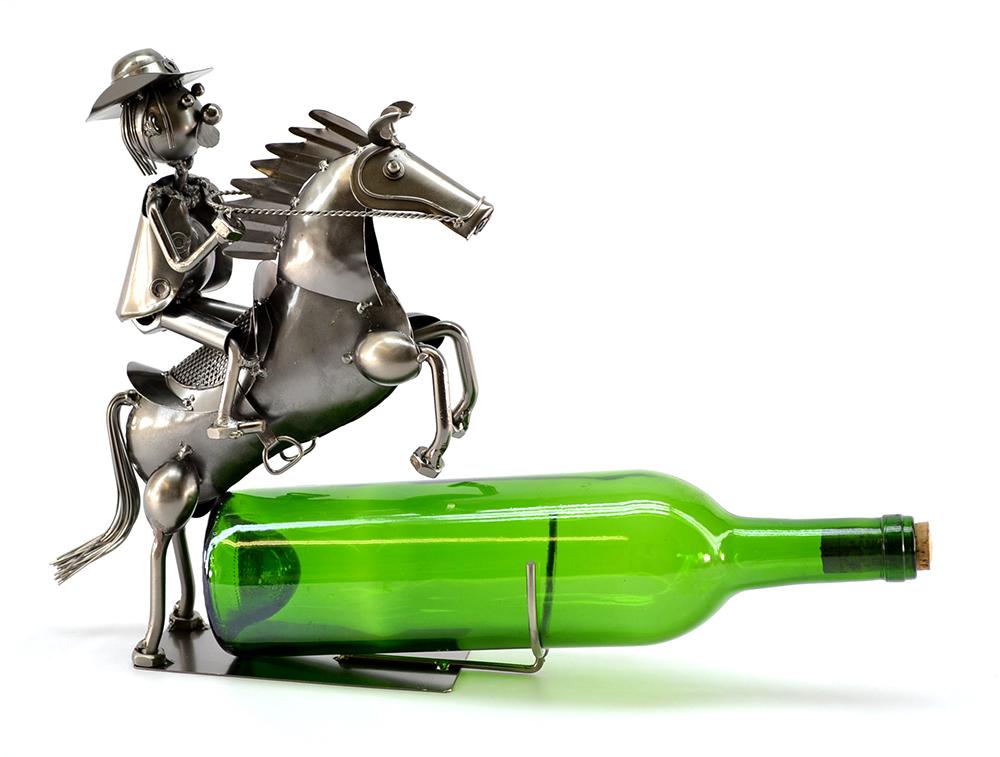 BOTTLE HOLDER, COWBOY ON HORSE