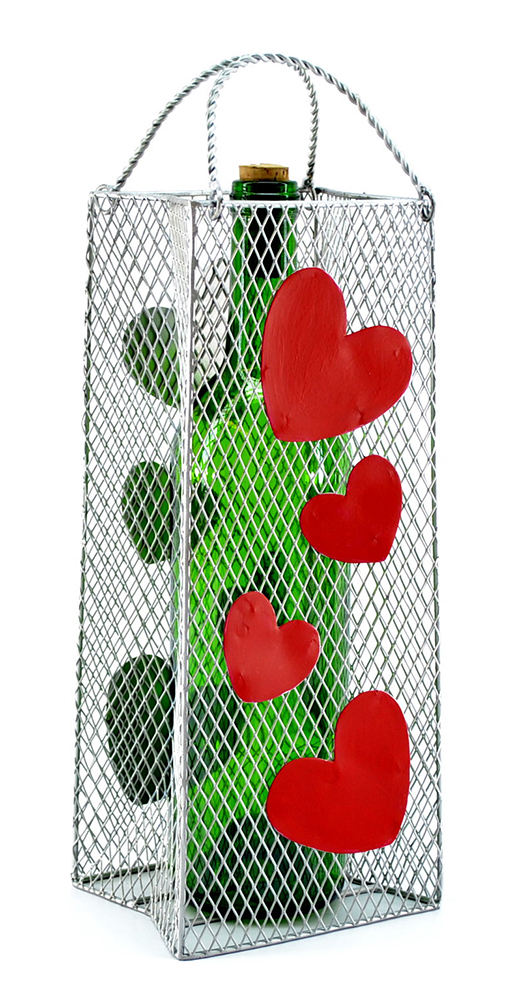 BOTTLE HOLDER, GIFT BAG, HEARTS