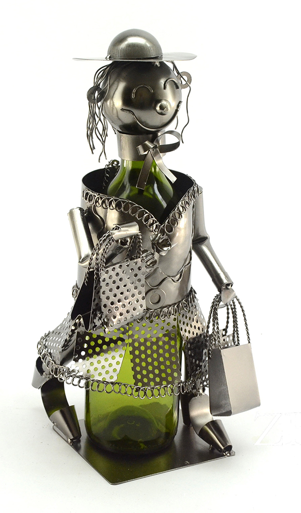 BOTTLE HOLDER, SHOPPING LADY