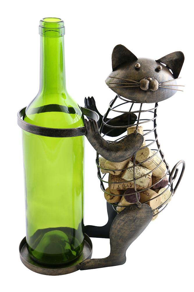 """11"""" CAT BOTTLE & CORK HOLDER"""
