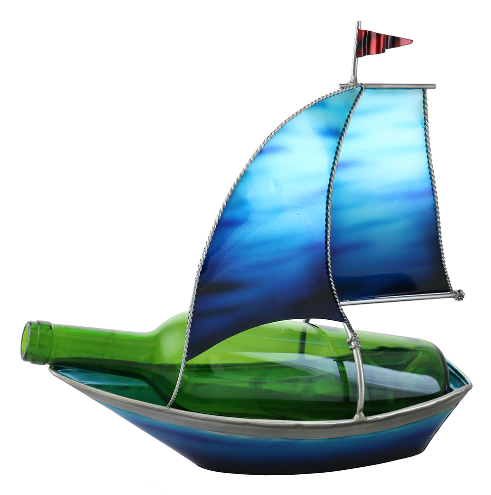 12X12 SAIL BOAT BOTTLE HOLDER
