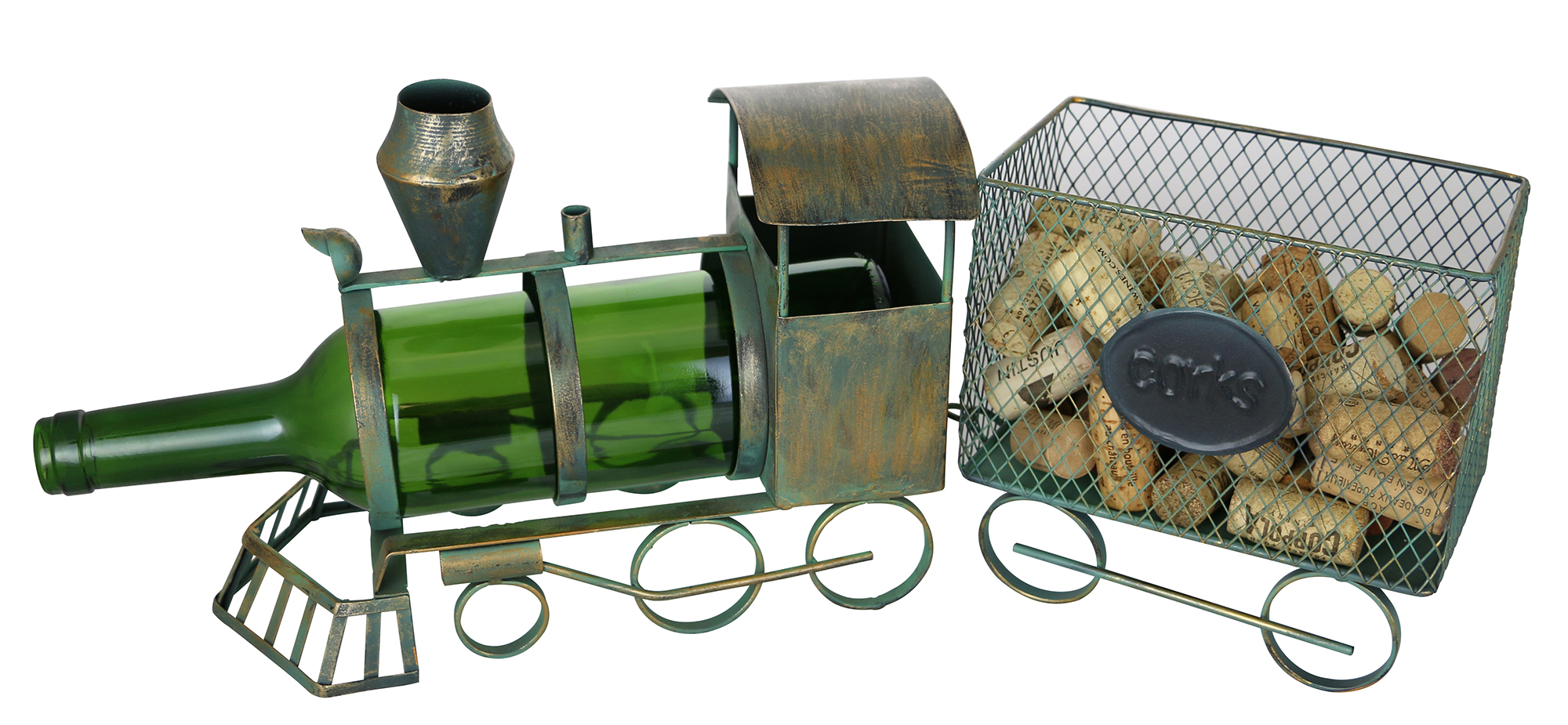 8X18X5 TRAIN BOTTLE & CORK HOLDER