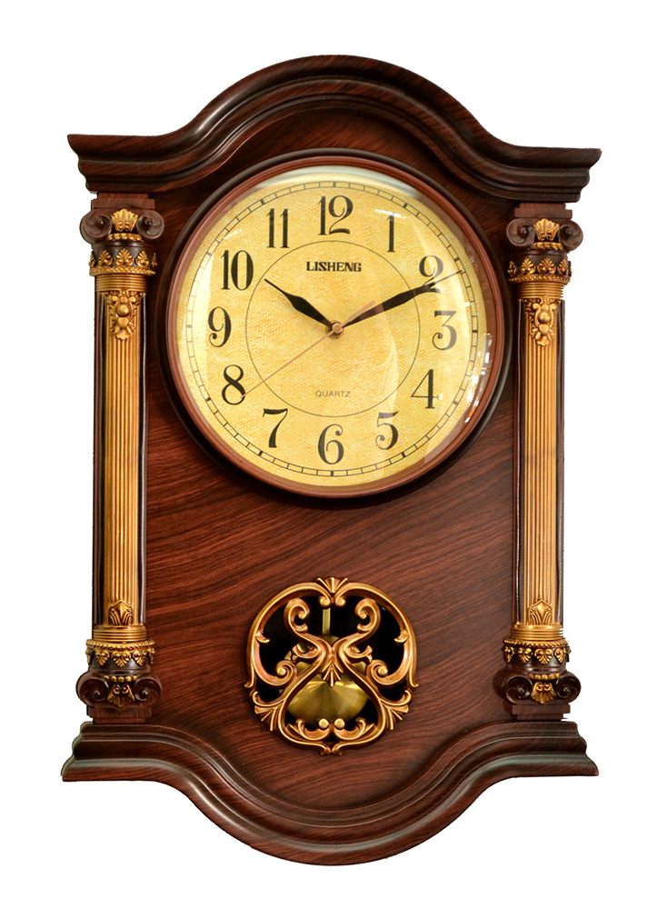 22X15 BROWN WALL CLOCK