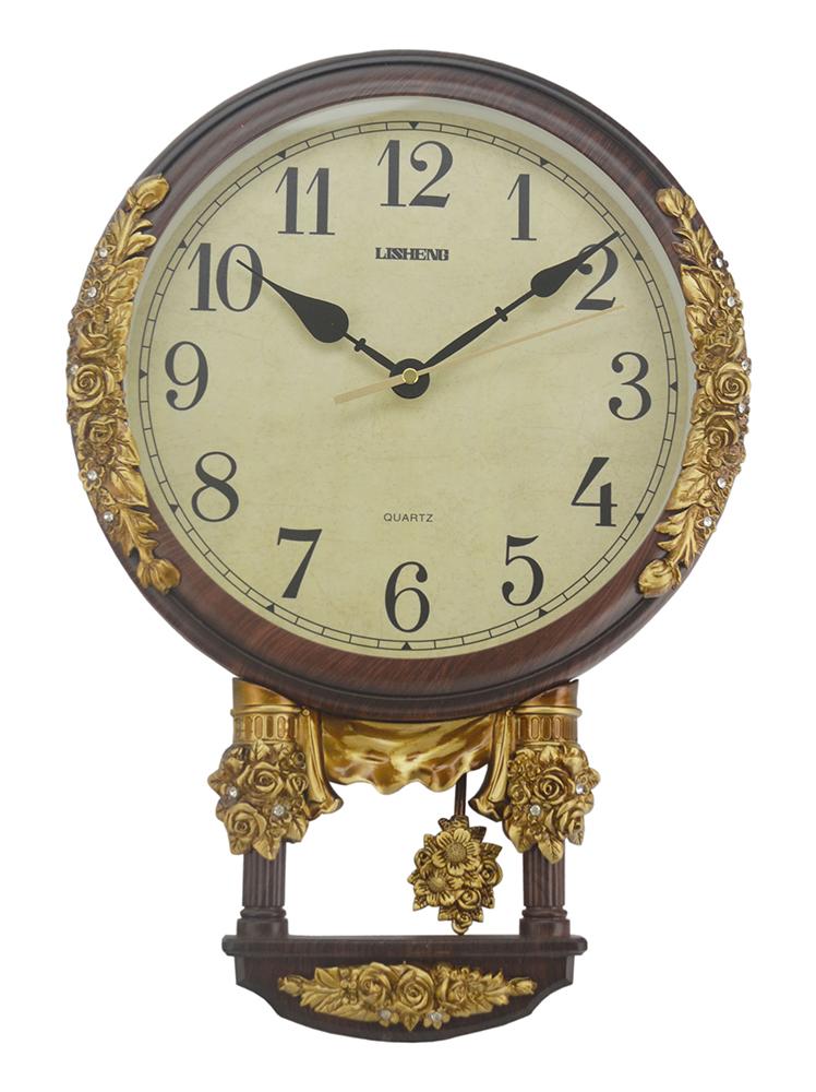 17X12 WALL CLOCK W/ PENDULUM