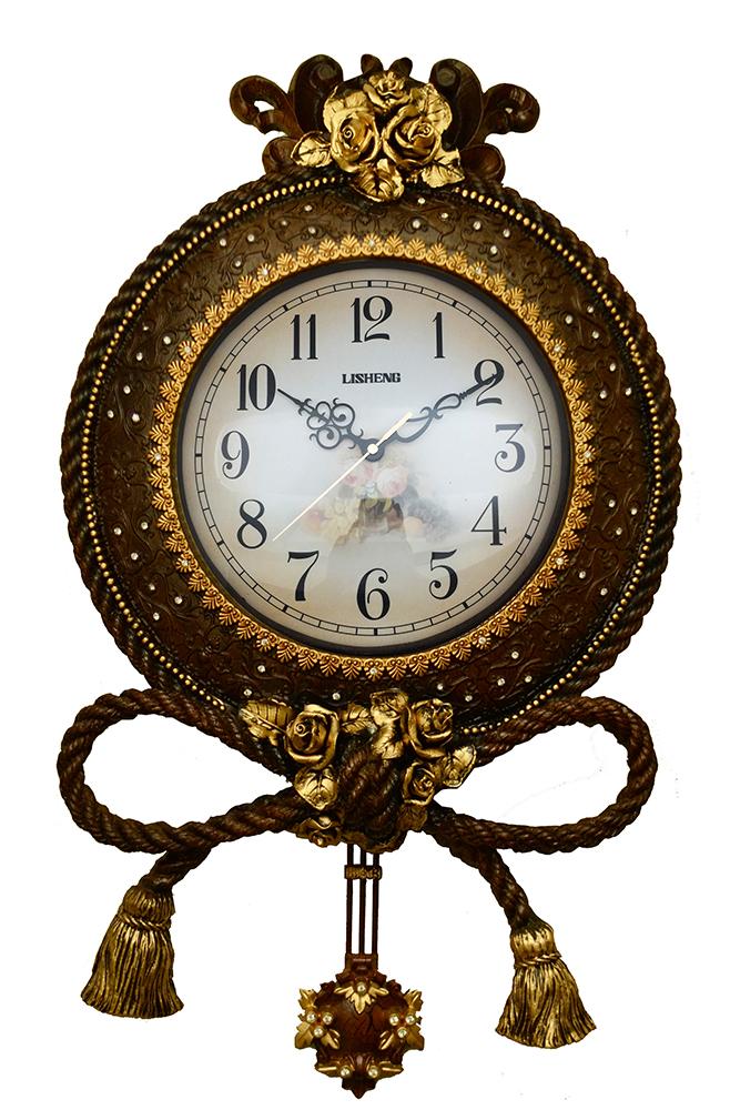 25X16 WALL CLOCK W/ ROPES & TASSELS