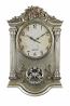 25X15 GLD/SLV WALL CLOCK W/ PENDULUM