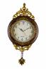 29X15 BRWN/GLD WALL CLOCK W/ PENDULUM