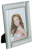 8X6 FRAME FOR 4X6 PHOTO, 4 PEARL AND CRYSTAL LINES