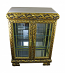39X28X15 ANTIQUE GOLD DOUBLE DOOR W/ MARBLE