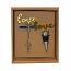 """CORK OPENER & STOPPER SET, """"LOVE"""""""