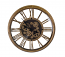 Moving Gears Antique Gold Steampunk Style Metal Wall Clock w/Roman Numerals