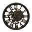Steampunk Style Brown Wall Clock Roman Numerals Sculptural Home Decor Wall Art