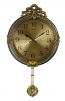 Gold & Silver Wall Clock w/ Ornate Pendulum