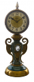 Brass & Ceramic Clock 10""