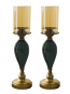 """Pair of 18"""" Candle Holder With Glass"""