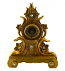 Polyresin Ornate Gold Table Clock Baroque Victorian Style Floral Carvings & Crystal  Accents Roman Numerals