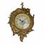 31X22 GOLD PEACOCK WALL CLOCK