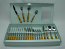 24-PC FLATWARE SET, GOLD & BLACK DECORATION