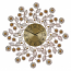 "27"" ROUND WALL CLOCK, GOLD FLOWERS"
