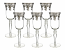 "6-PC SET OF 9"" FLUTE W/ SILVER DEC."