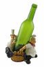 7X7 BOTTLE HOLDER, LAUREL & HARDY W/ GRAPES