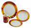 16-PC DINNER SET, MULTICOLOR