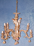 5-ARM, 10 LIGHT CHANDELIER