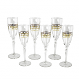 6-PC SET OF FLUTE WITH FLORAL DESIGN