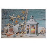 24X16 LIGHT UP STAR FISH, SEA SHELLS, & LANTERN