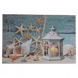 24X16 LIGHT UP STAR FISH, SEA SHELLS, & LANTERN