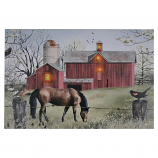 24X16 LIGHT UP HORSE & BARN