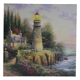 16X16 LIGHT UP LIGHT HOUSE SCENERY