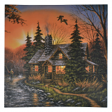 16X16 LIGHT UP FISHERMAN & CABIN
