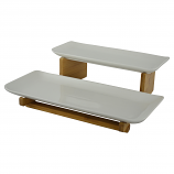13X11X4 2-LEVEL RECTANGULAR PLATTERS