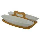12X8 TWO OVAL BOWLS W/ HANDLE