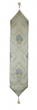 60X13 TABLE RUNNER, CREAM W/ BLUE FLOWERS